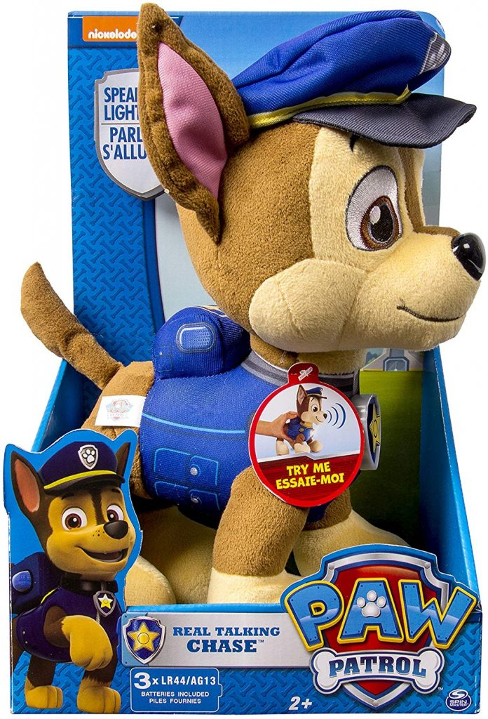 Peluche giocattolo chase paw patrol